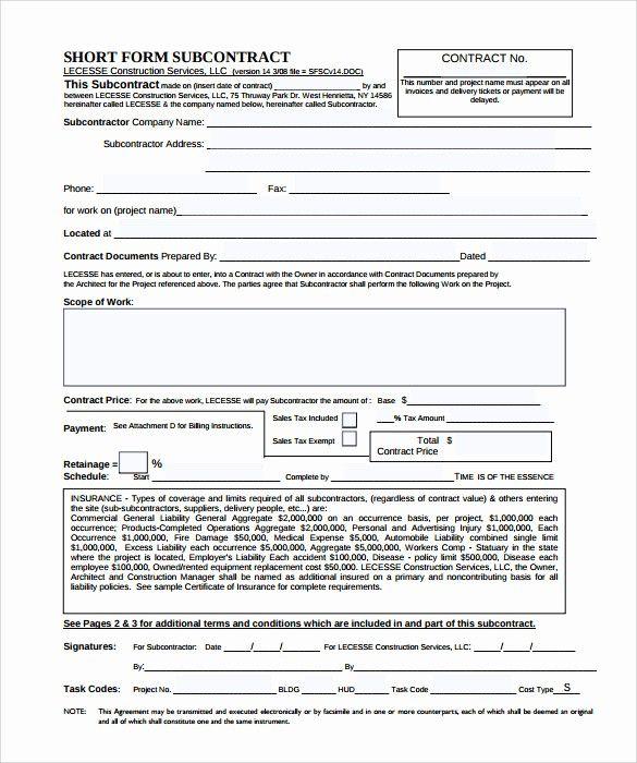 50 Unique Free Construction Contract Template Pdf In 2020