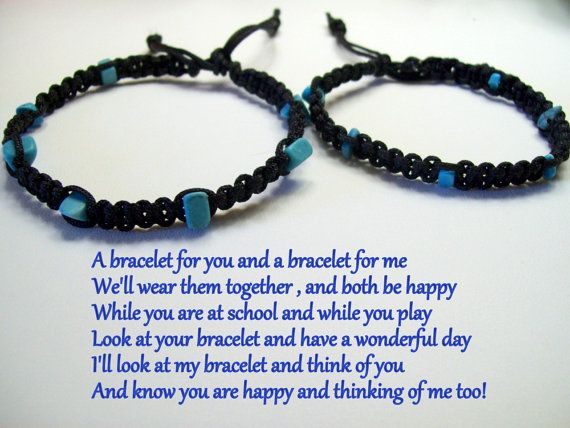 First Day Of School Bracelets Bracelet For S Pinterest And Mother Son
