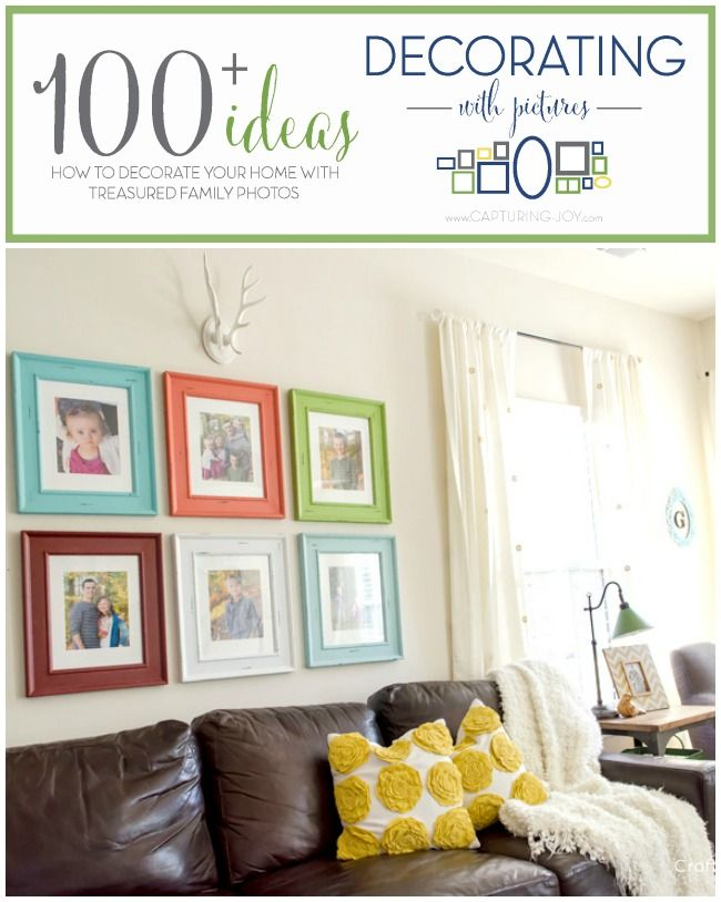 DIY framed pictures plus over 100 ideas for decorating your home with everyday pictures!