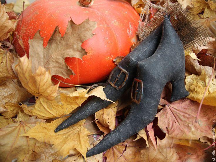 Купить Туфли ведьмы - чёрный, туфли, башмаки, обувь, ведьма, туфли ведьмы, декорация на хеллоуин