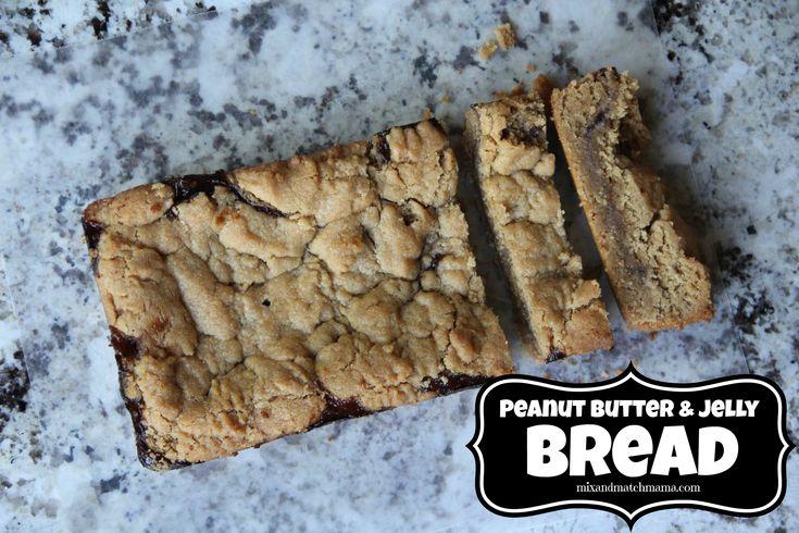 PEANUT BUTTER & JELLY BREAD (peanut butter, strawberry jelly)