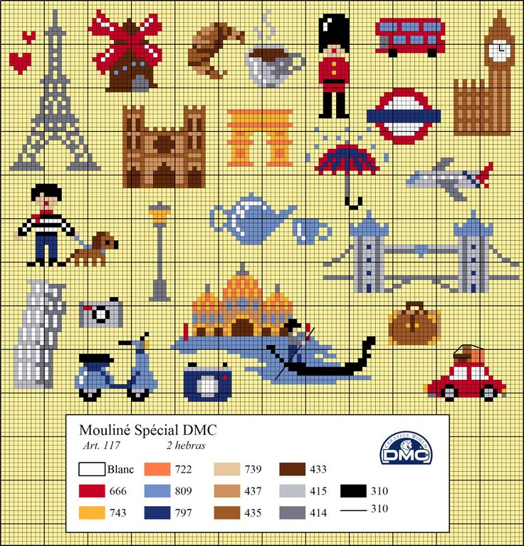 Dmc blog: Charts Cross Stitch Travel