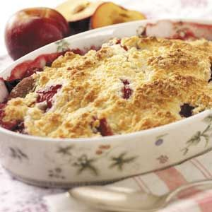Fresh Plum Crumb Dessert Recipe from Taste of Home -- shared by Janet Fahrenbruck-Lynch of Cincinnati, Ohio