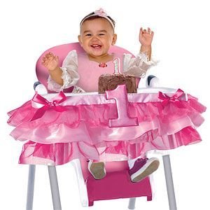 Decoration: Girl's First Birthday Pink High Chair Decoration