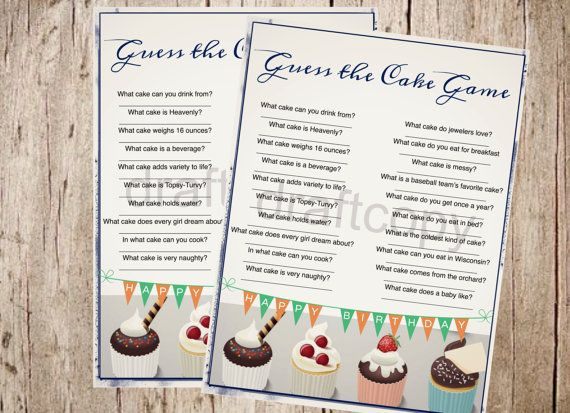 Birthday Party Game Instant Download Guess by 31Flavorsofdesign