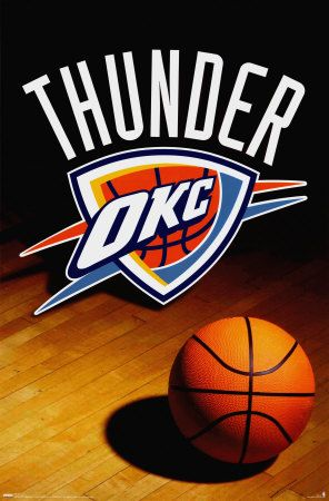 Thunder Up!  I'm not even into sports that much, but when I was up in OKC with mom and Steven, I began to like the OKC Thunder!!!  They really are AWESOME!!!!!!!!  Thunder Up baby!!!  :D