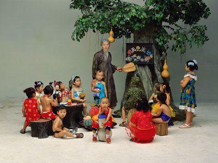"""Preschool"" de Wang Qingsong (2002)"
