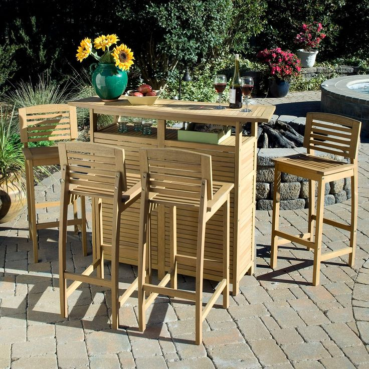 Have to have it. Home Styles Bali Hai Party Bar Set - $859.99 @hayneedle