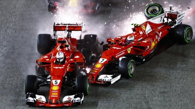 Singapore Grand Prix: Has Sebastian Vettel's aggression just cost him the title? - BBC Sport