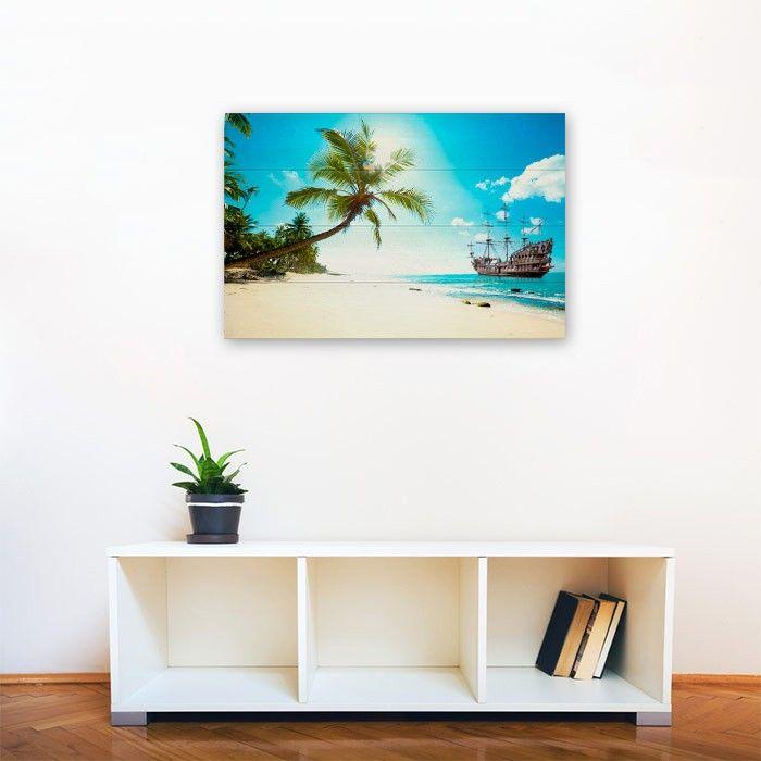 Tableau photo personnalisé sur Bois 90 x 60 cm
