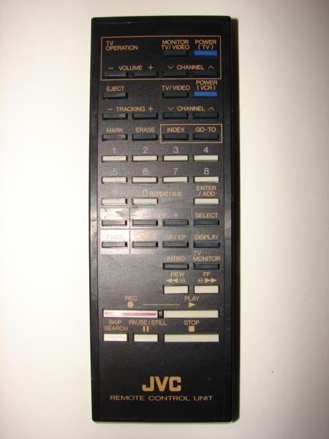 JVC TV VCR Remote Control Unit R03/AAA UM-4 PQ10544 UR52EC516/PQS1907 2