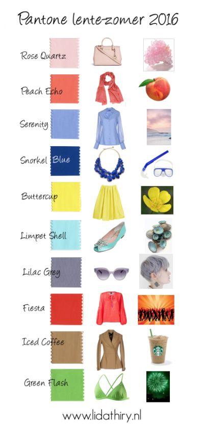 Kleuren Top Tien voor Lente-Zomer 2016. Lees het blog voor de tips! #PantoneSpring2016 #KleurenLente2016