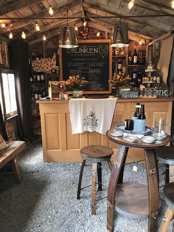 Totally OBSESSED! this is a backyard shed (doesn't even have a floor!) turned into a bar, or as I call it... Total mom cave that I spend way too much time in!!