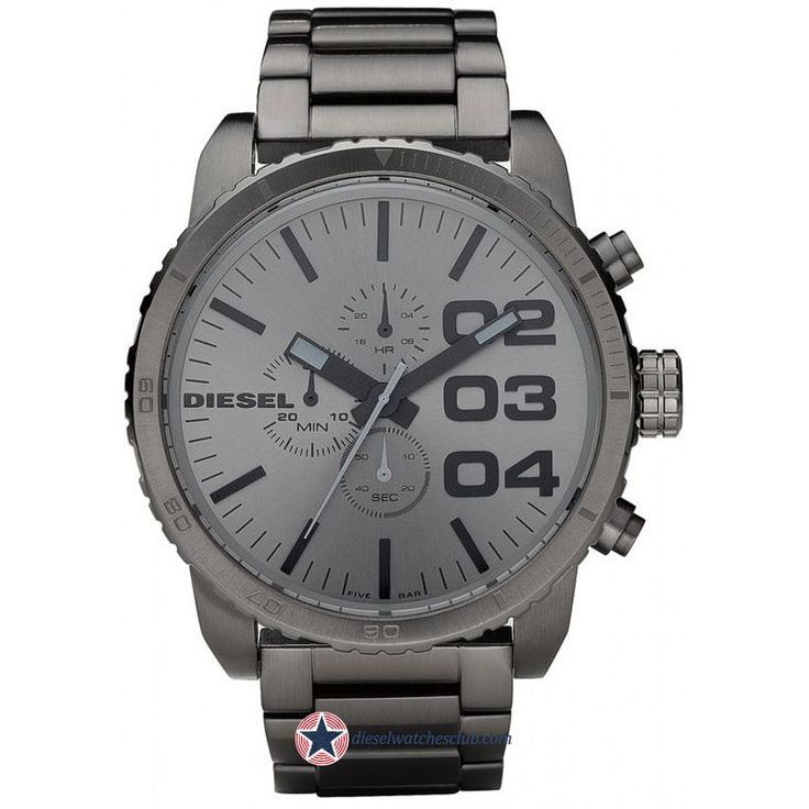Men's Diesel Double down quartz Advanced Gunmetal Watch DZ4215 $185.00 # Diesel #Watches #menswear