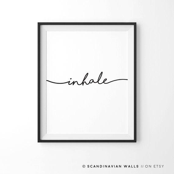 Exhale inalare inspirare espirare preventivo di ScandinavianWalls