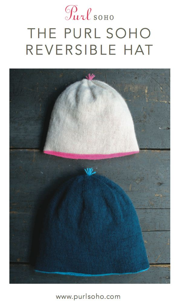 Lifeline Knitting Purl : Purl soho reversible hat pattern from two hats