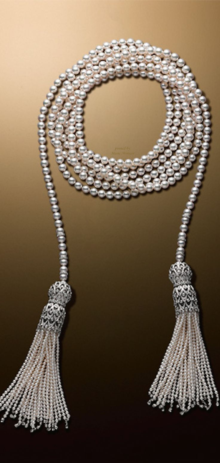 Pearl & Diamond Tassel Necklace