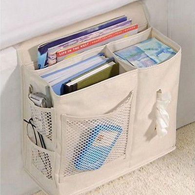 6 Pocket Storage Case Bedside Mattress Book Remote Caddy Homewares Storage Bag