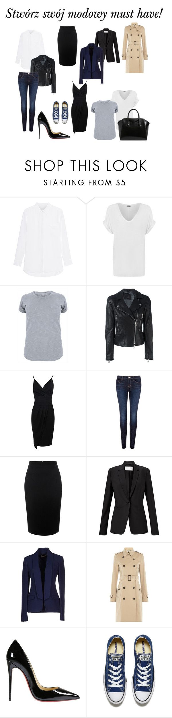 Swórz ze mną swój modowy must have! by marta-waluk on Polyvore featuring moda, WearAll, Burberry, Michael Kors, Belstaff, HUGO, Alexander McQueen, J Brand, Christian Louboutin and Converse