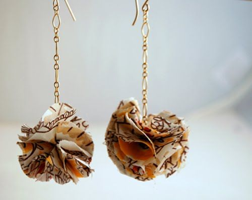 The Moptop Maven.com | The Premier Source For All Things Creative, Fly & Fashionable: DIY Fabric Flower Earrings