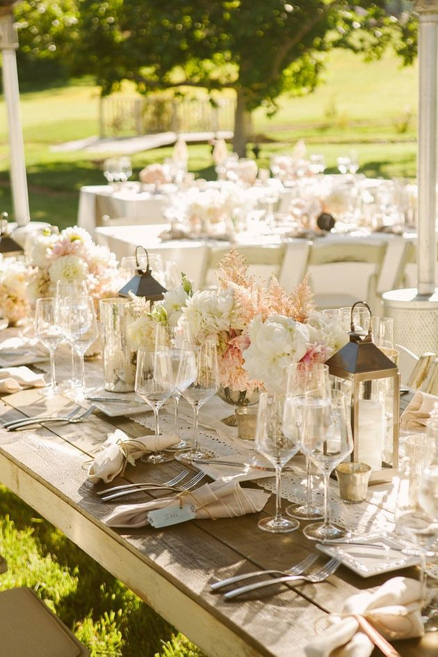 afternoon tewedding theme ideas%0A Saturday afternoon wedding reception idea  soft pastel colors and lanterns  at the garden wedding