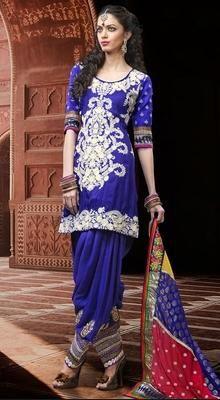 Melodic Royal Blue Salwar Kameez