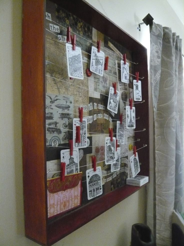DIY: Vintage Travel Themed Shadow Box via www.myartisticbliss.com <3