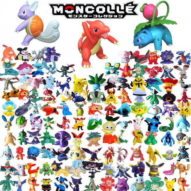 144 Mixed Pokemon Pikachu Monster Mini Random Pearl 2-3cm Action Figures toys UK    eBay