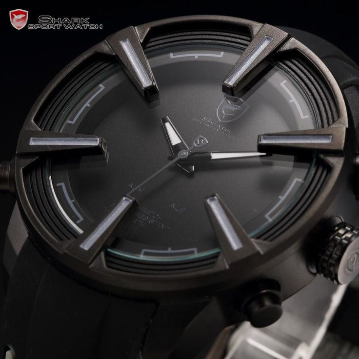 Dogfish Shark LED Display Date Day 5 Colours Mens Sport Quartz Wrist Watch