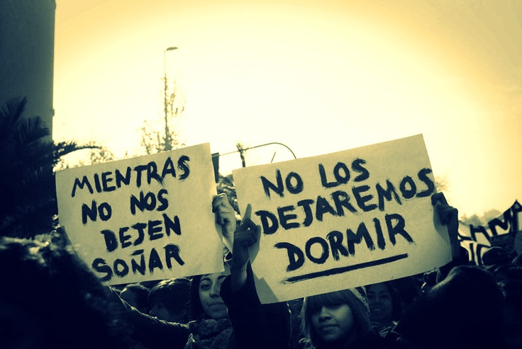 Protestas Estudiantiles, Santiago de Chile.