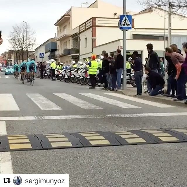 The @proteamastana don't ride... they fly!!!  #Argon18 #Argonautas #Astana #UCI #VoltaCatalunya #TTBike #E118Next #TimeTrial #RoadBike #Cycling #Ciclismo   #Repost @sergimunyoz with @repostapp  ・・・  🛫🛫🛫🛫