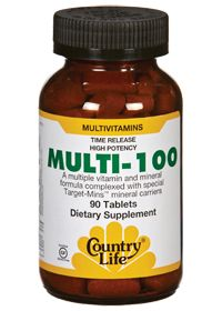 Multi-100 by Country Life - Buy Multi-100 90 Tablets at
