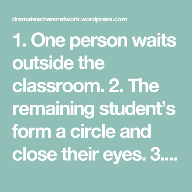 1. One person waits outside the classroom.  2. The remaining student's form a circle and close their eyes.  3. The teacher selects one student to be the murderer by squeezing them on the shoulder.  4. Everyone opens their eyes and the person waiting outside is let into the room and circle.  5. The person in the centre of the circle has three chances to guess who the murderer might be.  6. The murderer's job is to wink at different people around the circle. As each person gets winked at they m...