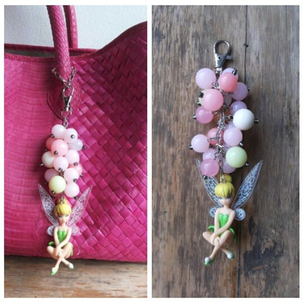 Stylist your Fave bag with our TINKERBELL BUBBLEGUM bagcharm! Beep us for order!