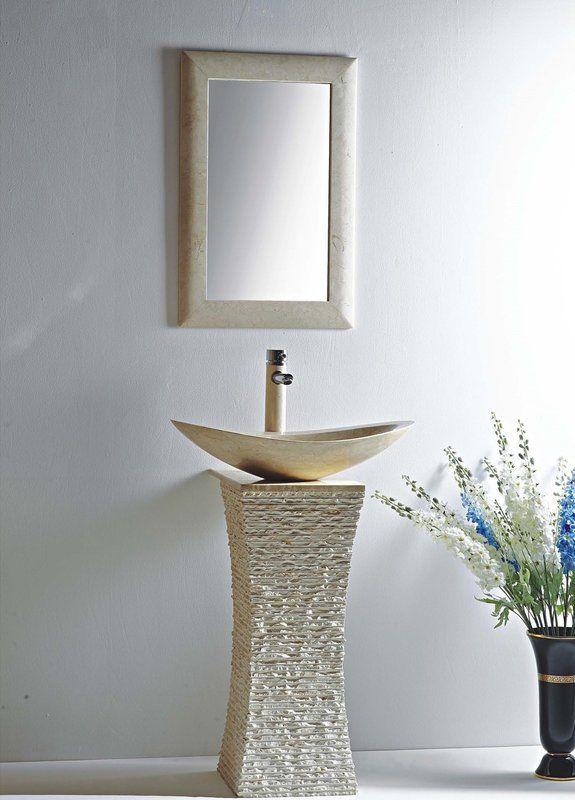 Milan Stone 24″ Pedestal Bathroom Sink