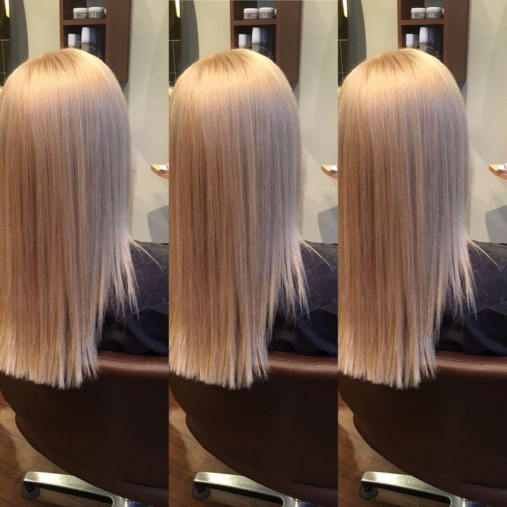 Iceblonde created using wella special blonde and wella innosense