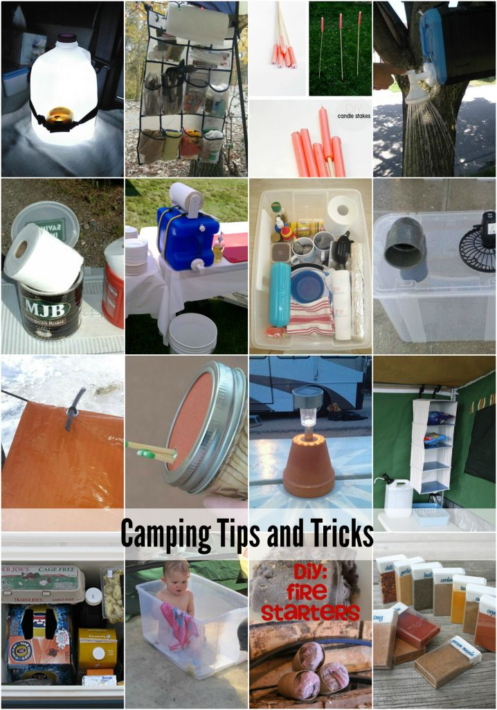 20 Camping Tips and Tricks to keep your next Camping Trip more organized | theidearoom.net