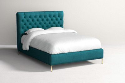 Beautiful teal bed from Anthropologie #anthropologie #ad #affiliate #bed #decor #decorating