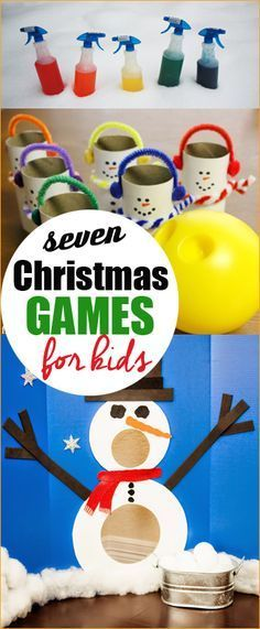 7 Christmas Games for Kids.  Games for school classes on a dime.  Activities for family Christmas parties.
