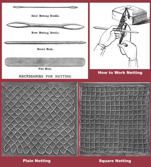 Iva Rose Vintage Reproductions - Weldon's 2D #21 c.1886 - Practical Netting