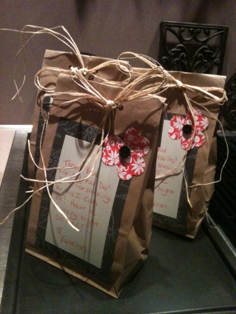 Teacher Appreciation Gifts: A little Relaxation in a Bag - homemade soaps and bath salts.
