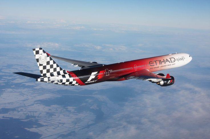 Airbus A340-600 Etihad Airways Formula One livery