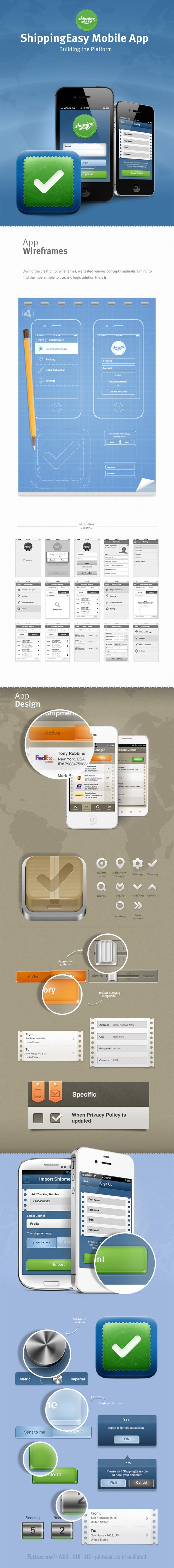 ShippingEasy Mobile App by SATURIZED , via Behance *** #iphone #app #gui