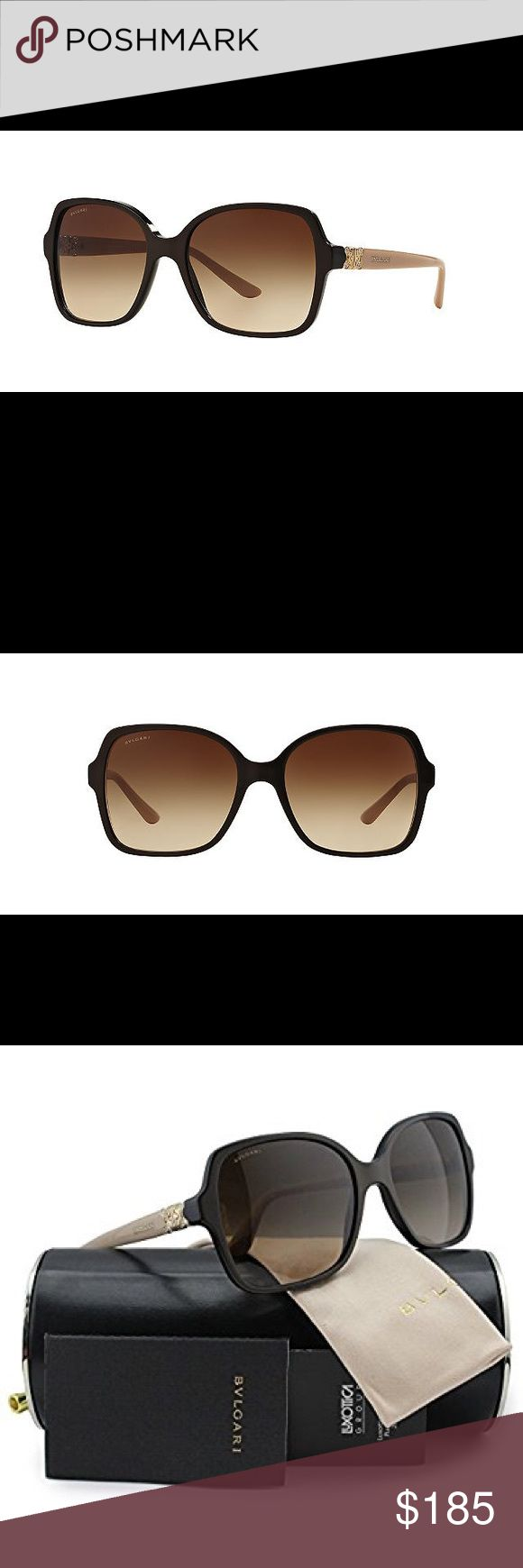 🌟Gorgeous Oversized Blvgari Sunglasses w/Crystals Bvlgari BV8106B Sunglasses Brown Gradient Lenses  This gorgeous pair of BV8106B oversized Bvlgari Sunglasses has Cream frames with brown gradient lenses. They come pre owned in perfect condition; with everything you see in the pictures. Guaranteed authentic or your money back! I bought these for $525 a year ago...Rare opportunity to get this at a steal    Product Description  Frame colour: Brown  Lens: 59 mm Bridge: 16 mm Temple Length: 125…