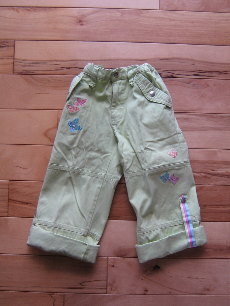 GYMBOREE PALM SPRINGS BUTTERFLY ROLL-UP PANTS 6 EUC (from the February '06 line)   $8.00