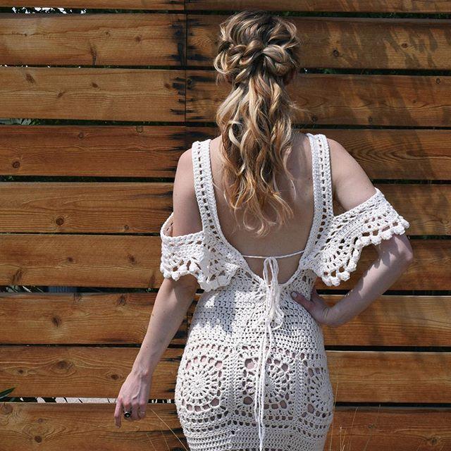 Guys... I finally finished crocheting my dress. Go follow my line…