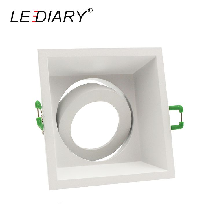 LEDIARY Square Double Rings Downlight Bulb Changeable MR16 GU5.3/GU10 12V 85-265V 90*90mm Cut Deep Concave Recessed Ceiling Lamp #Affiliate