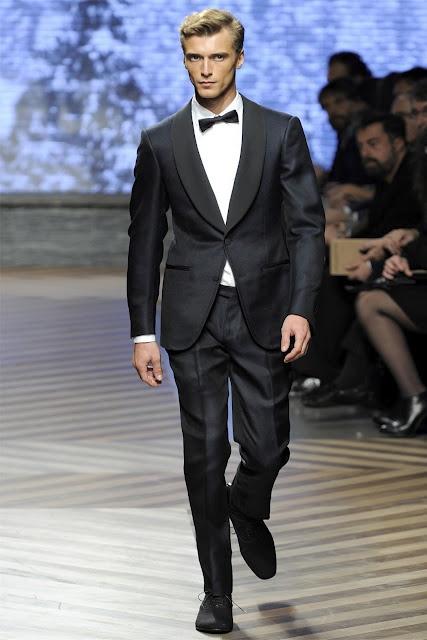 Ermenegildo Zegna F/W 2012-13Black Ties, Fashion Weeks, Men Clothing, Collars Tuxedos, Bows Ties, Ermenegildo Zegna,  Suits Of Clothing, Men Fashion, Men Suits