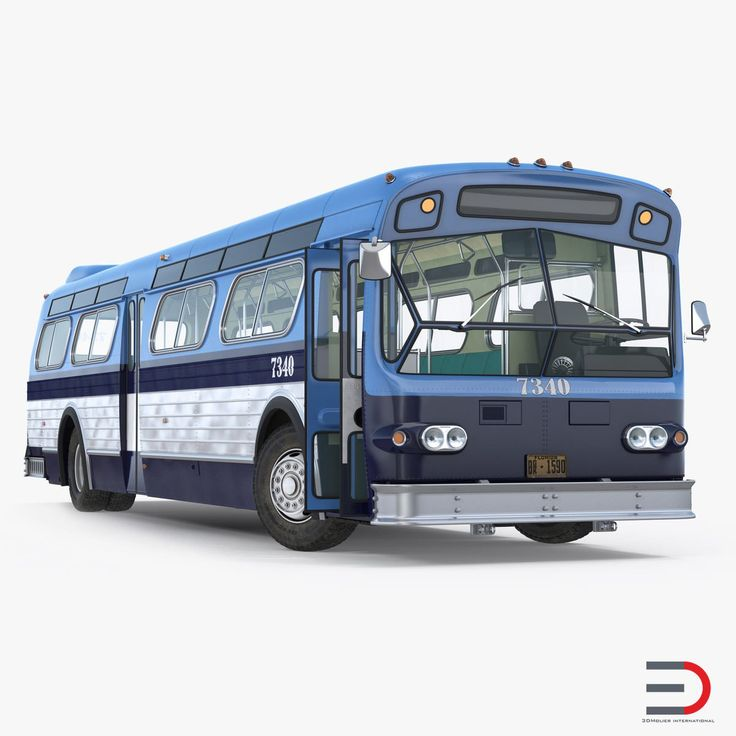 Flxible New Look Transit Bus Rigged 3D model