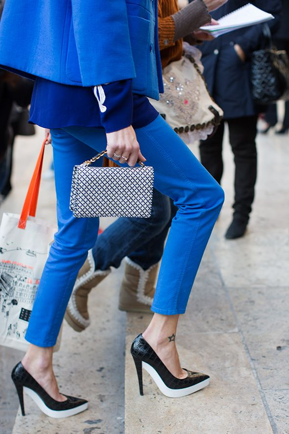 it's all about cobalt. snap by Tommy Ton